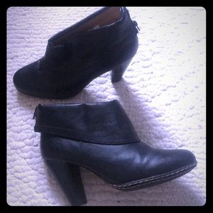 Merona Black Booties with Zippers